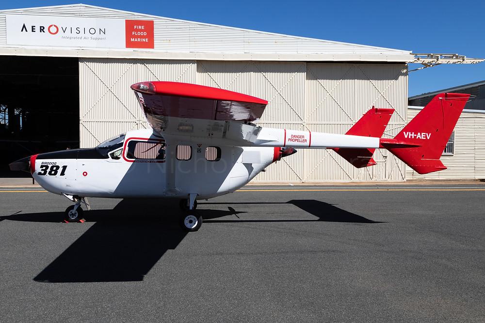 Cessna 337G Skymaster VH-AEV at Ballarat Aerodrome