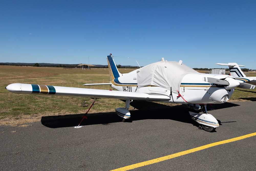 Piper Cruiser VH-TXV at Ballarat Aerodrome