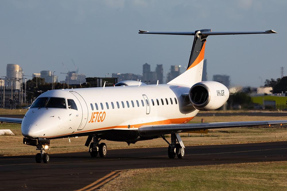 JetGo E145 VH-JGR at Essendon Airport