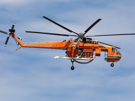 Erickson Air-Crane arrives at Essendon