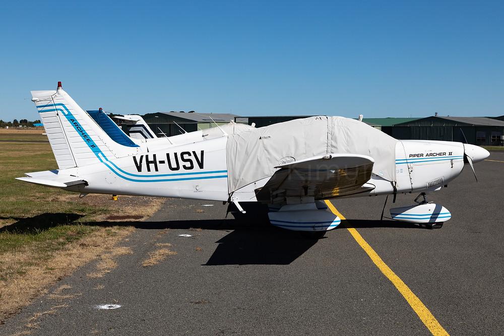 Piper Archer II VH-USV at Ballarat Aerodrome