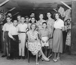 Trieste Clare McMurray and group 1951