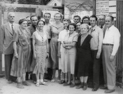 Trieste, Clare McMurray(centre) and some staff 1951