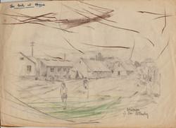 Opincina  tents, Artist B.Krutiev 1950