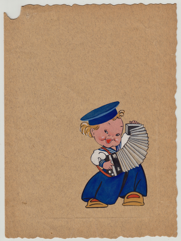 San Sabba Camp theatre thank you card (cover) 1951