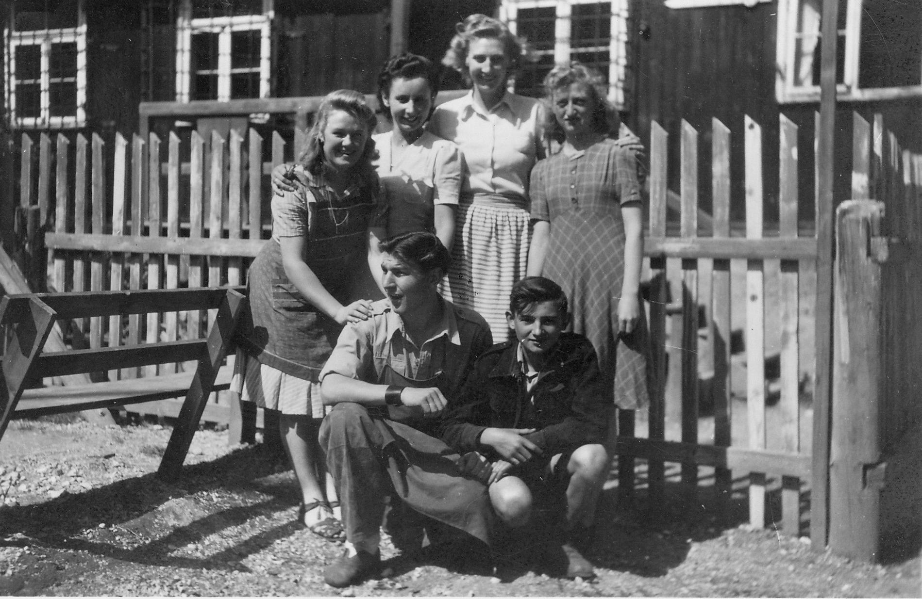 Eisenerz staff, Back L-R Leni, Frau Mosaner, Clare, Freidl, Front row - Gustav, Dushkov, Sept.1948