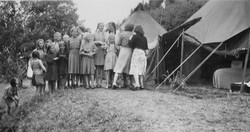 Waiern Summer Camp by the tents Sept.1949
