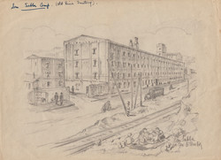 Old Rice factory San Sabba Artist B. Krutiev 1950