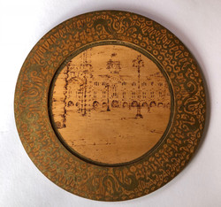 Wood sketched plate of Trieste (Artist unkown)