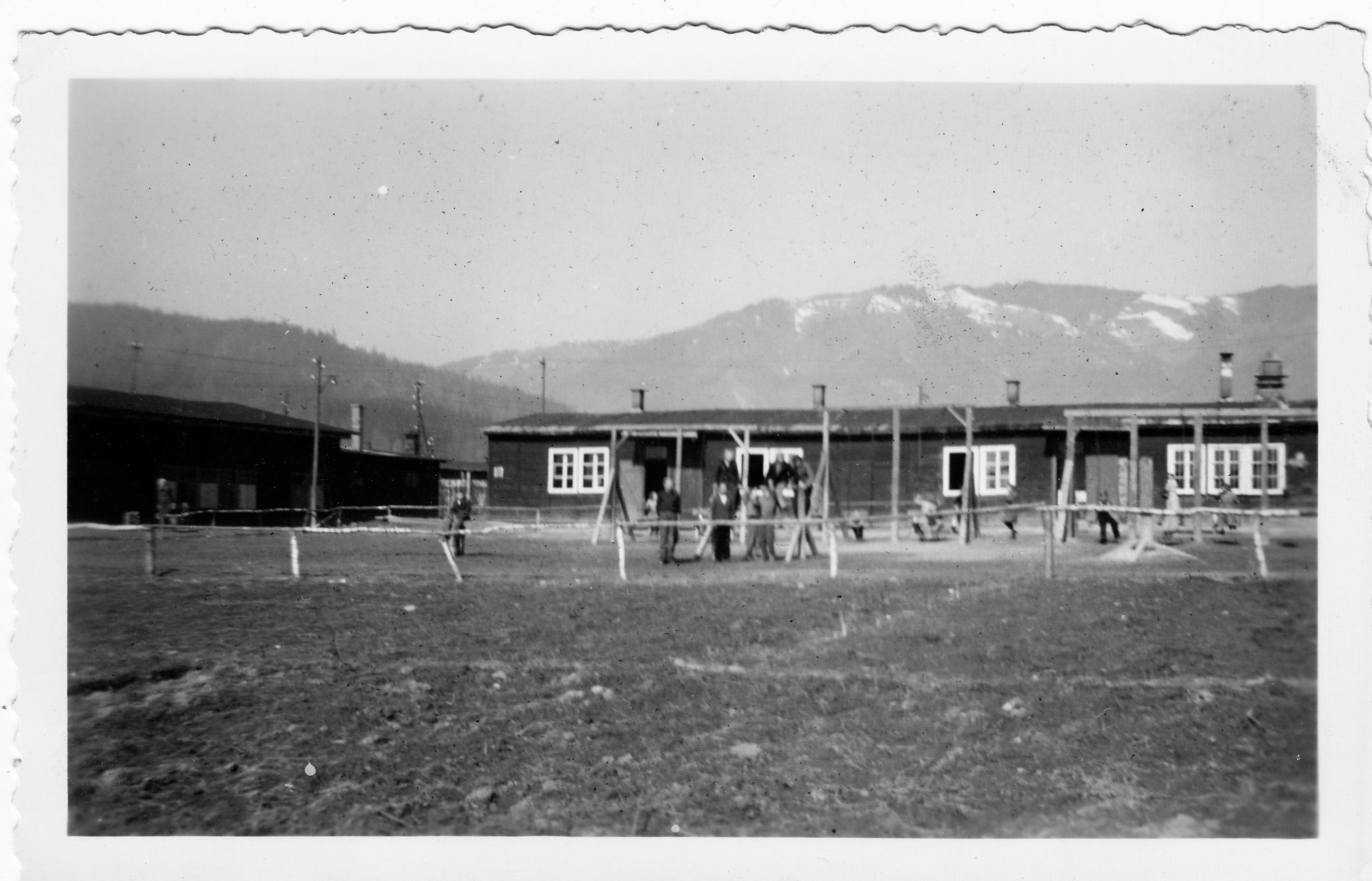 Kapfenberg Camp 7 Childrens playground and dining barracks 1949