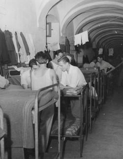 Gesuiti camp living in the corridor 1950-51