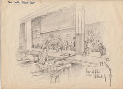 San Sabba DIning room, Artist B. Krutiev 1950