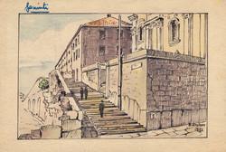 Gesuiti camp entrance, Artist B. Krutiev 1951