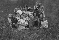 Waiern Summer Camp, Group Leader Danica with her group of girls Sept. 1949