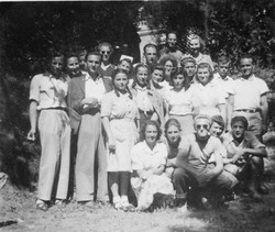 Waiern Summer Camp Group Leaders  Clare  McMurray back right Sept. 1949