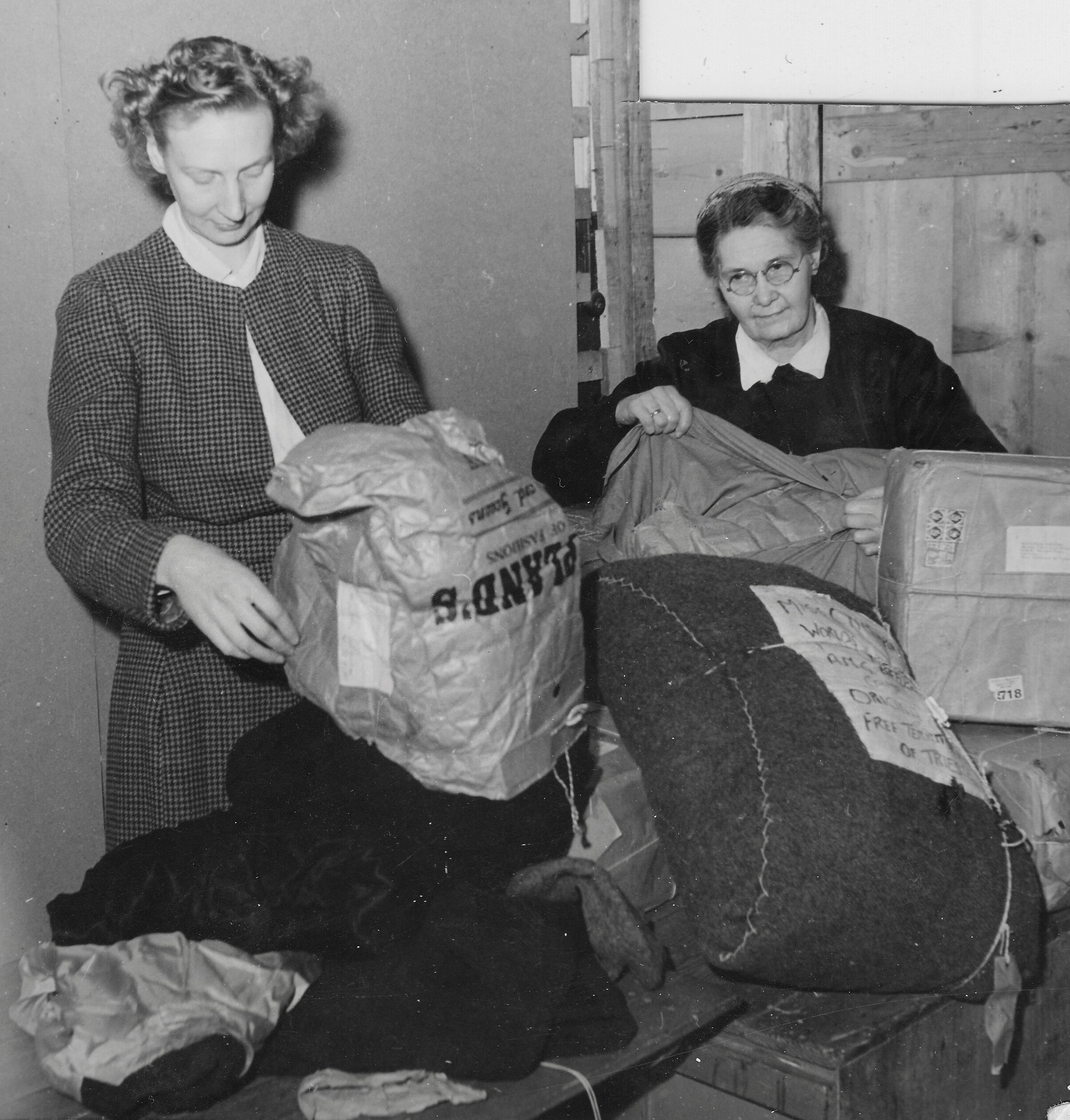 San Sabba clothing distribution Clare McMurray 1950-51