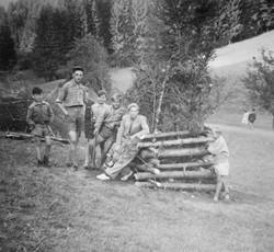 Waiern Summer Camp, campfire ready to light Sept. 1949