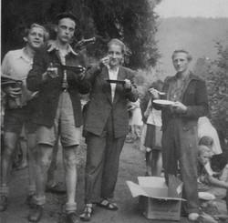 Waiern Summer Camp, Camp Leaders Rudi, Janez, Zenon, Viktor Sept. 1949
