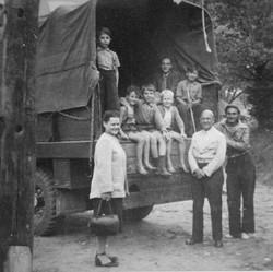 Waiern Summer Camp, farewell to St Martin group Sept. 1949