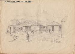 San Sabba, the new barracks, Artist B. Krutiev 1950