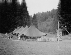Waiern Summer Camp, boys tents, Sept. 1949