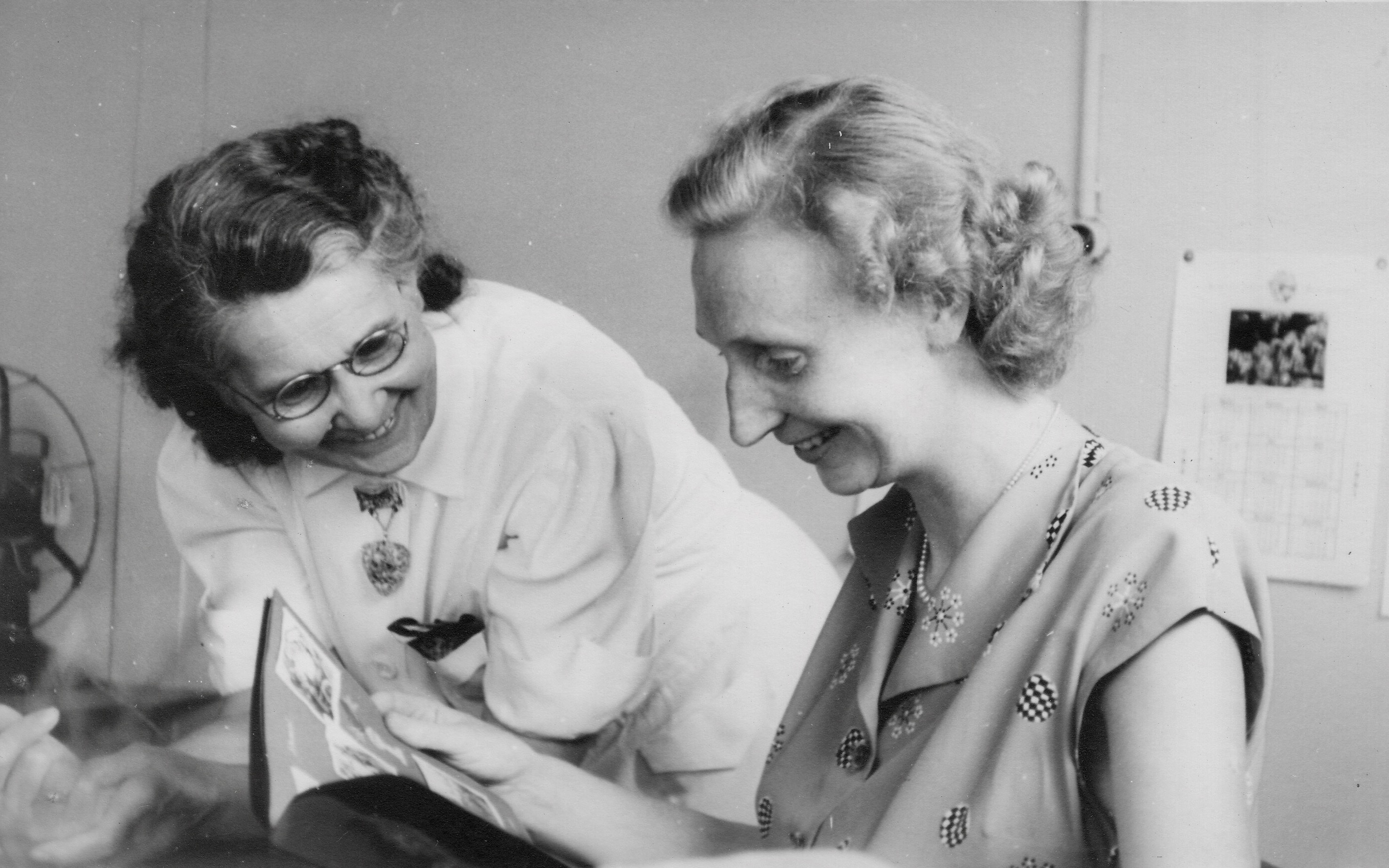 Trieste, Clare McMurray and Olga Benson 1951