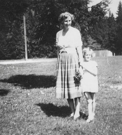 Ebanesse camp Clare McMurray & Rosemarie 1950