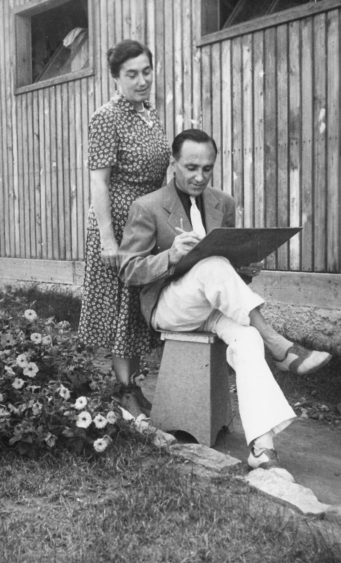 Trieste, Dara & Constantin Ivanovich-Sabo October 1951