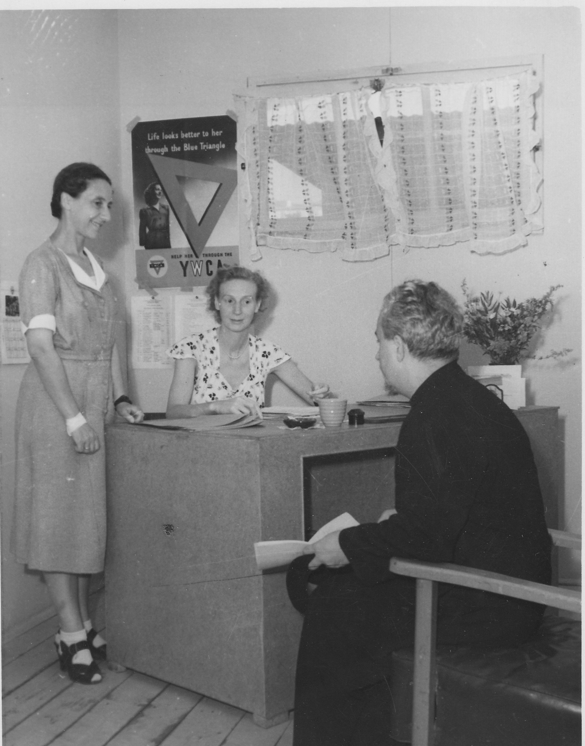 San Sabba, Father Haplanov,Olga, Clare McMurray 1950