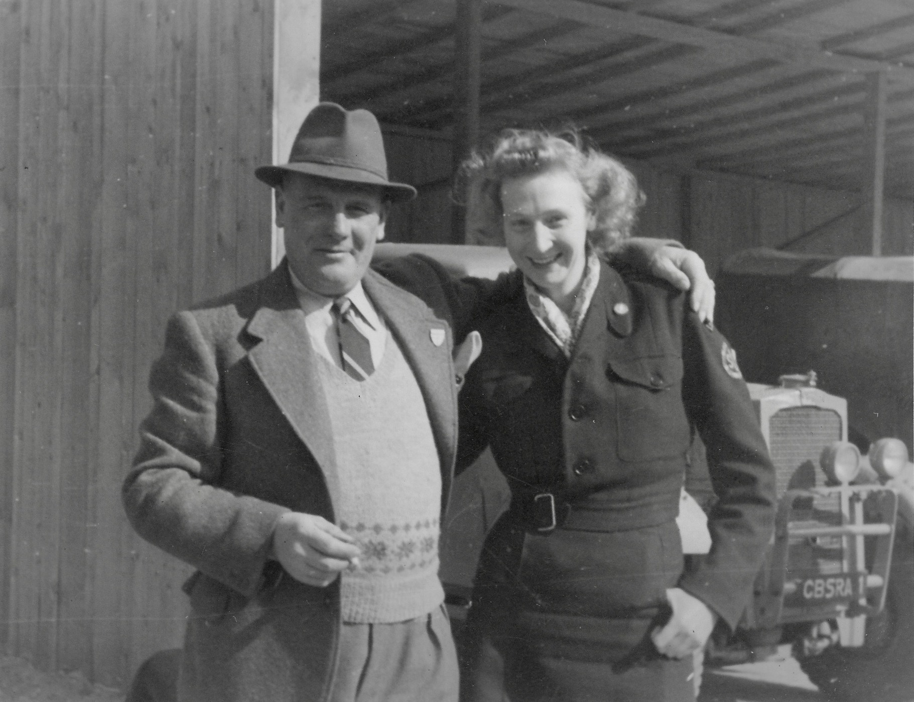 Kapfenberg Westward Ho camp, Major Dewar & Clare McMurray 1949