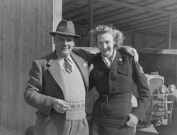 Kapfenberg Westward Ho camp, Major Dewar & Clare McMurray 1949