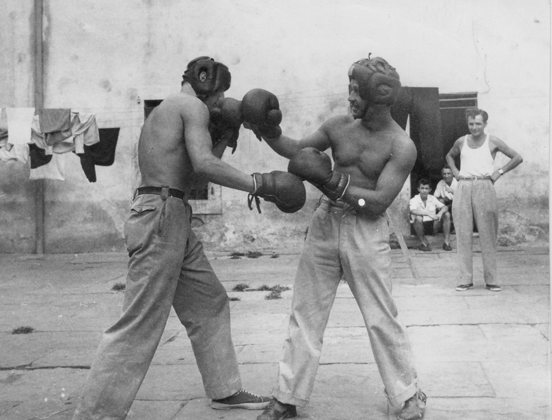 Gesuiti camp, sport in the courtyard 1950-51