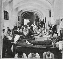 Gesuiti barracks, Trieste, Photo-World Communique 1951