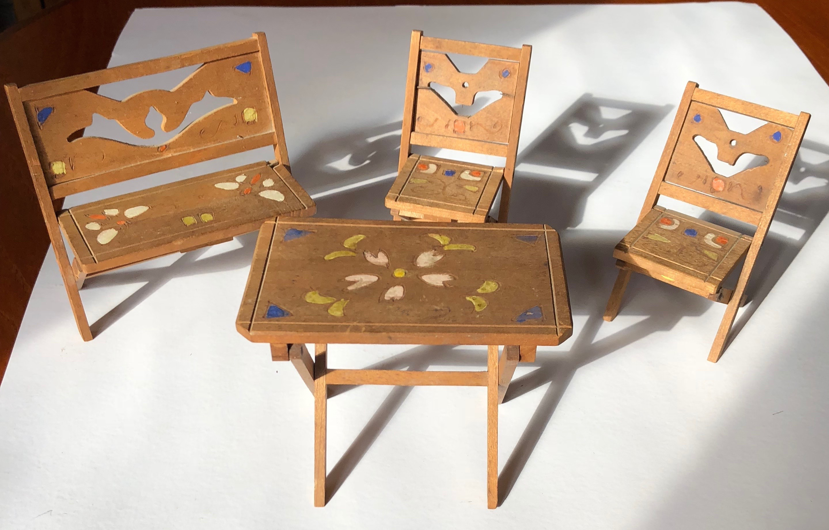 Wooden play dinning setting ( Artist unknown)