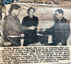 Trieste,Community Chest donation 1951
