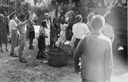 Waiern Summer Camp, farewell to the children Sept. 1949