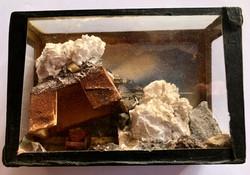 Eisenertz sculpture of iron mountain in a glass box 1948