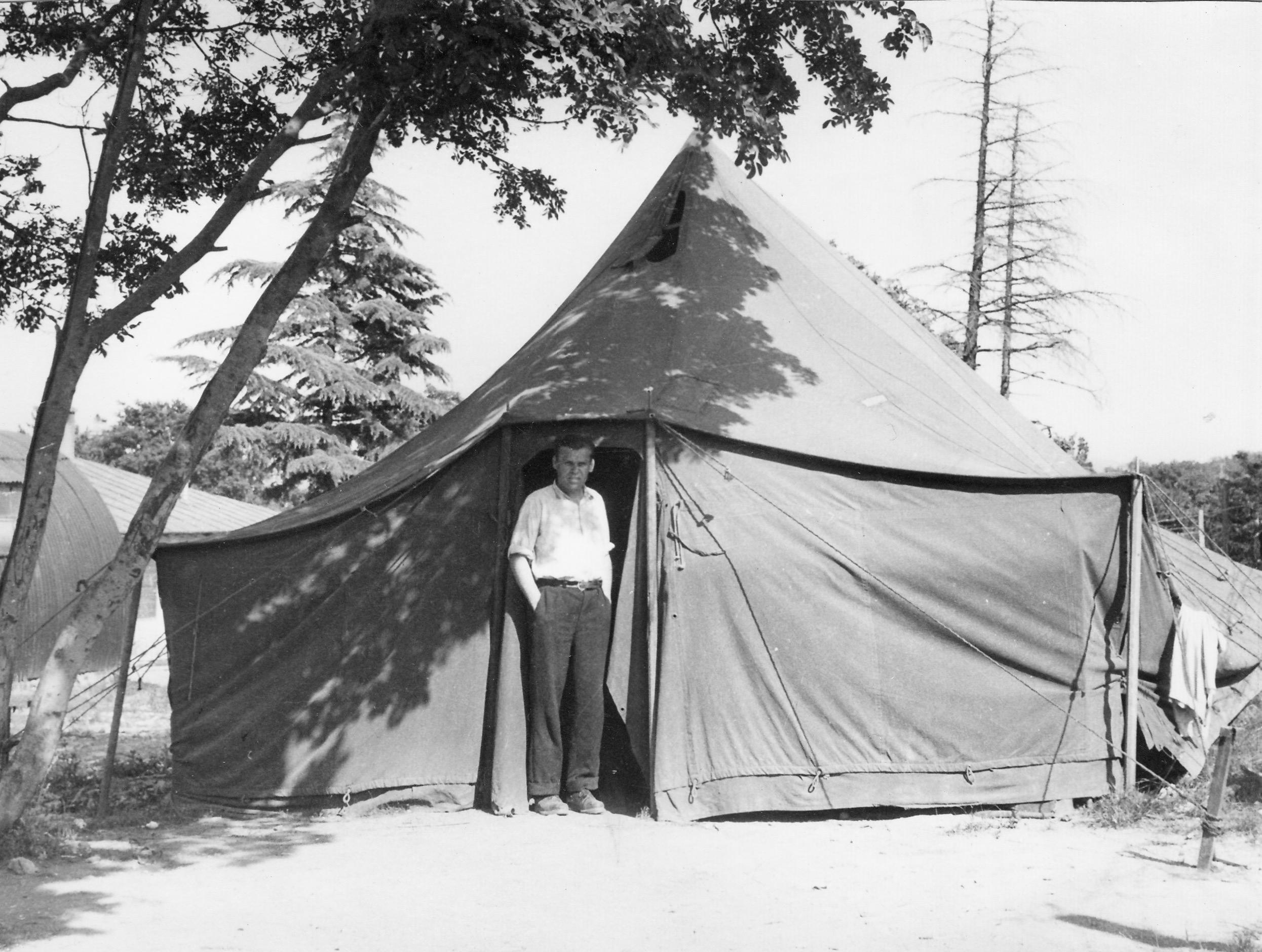 Opincina camp tents, 1950-51