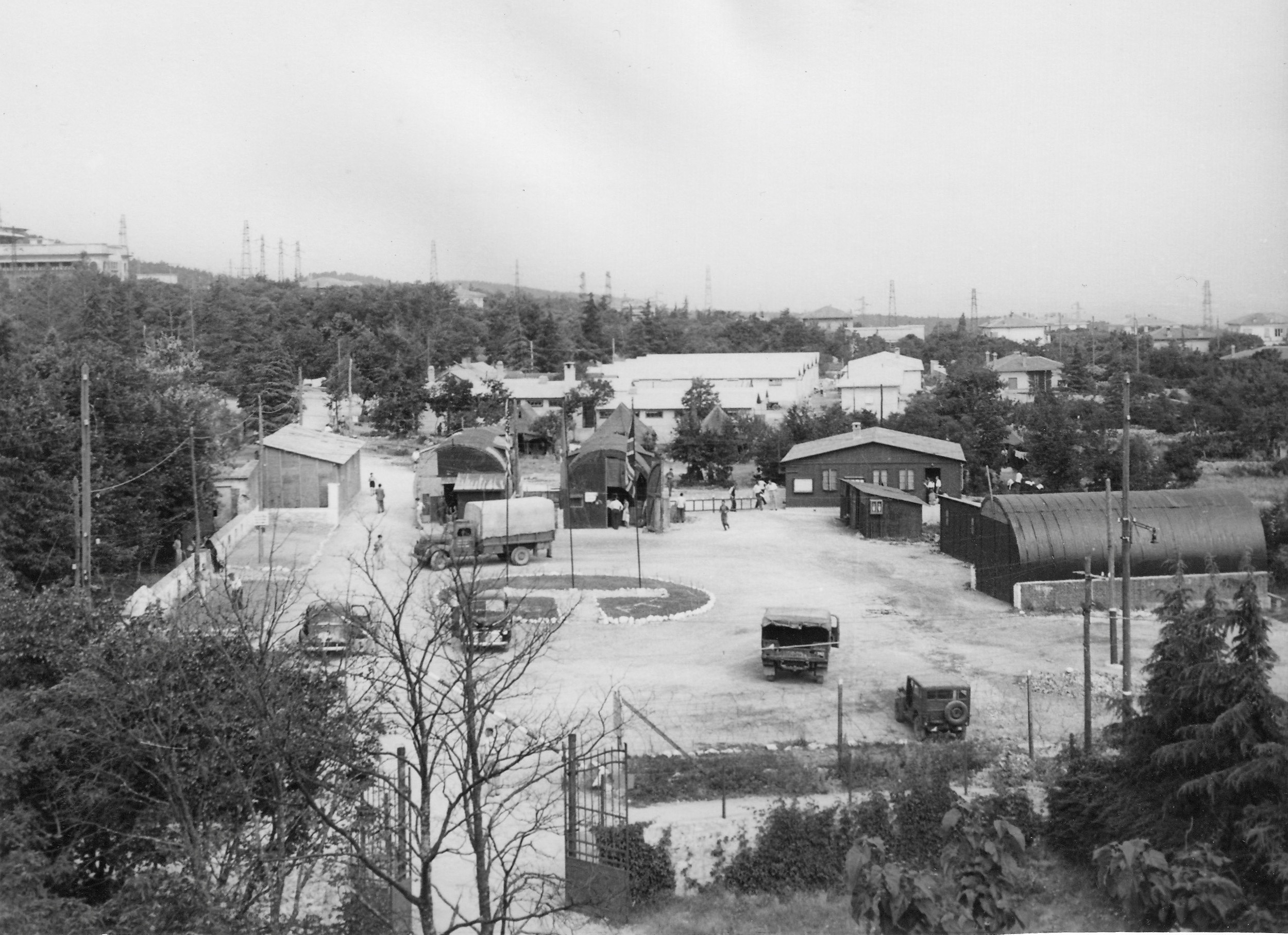 Opincina camp, view from office window 1950-51