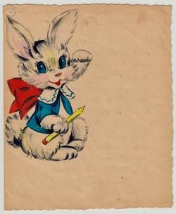 San Sabba kindergarten farewell card cover 1951
