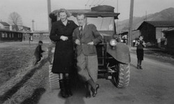Kapfenberg camp, Clare McMurray and Herr Winter 1949