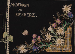 Cover of photo album'Memories of Eisenerz' given to Clare McMurray on leaving the camp 1948