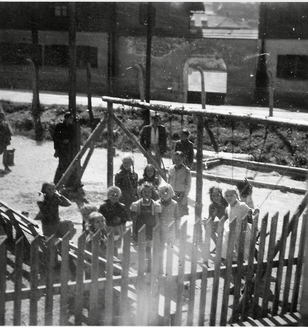 Eisenerz camp 64, view from office window, 1948