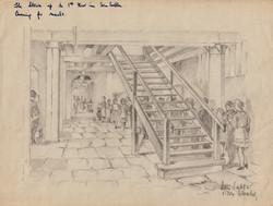 San Sabba, queing for meals, Artist B. Krutiev 1950