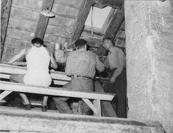 Gesuiti camp attic, under the roof 1950-51