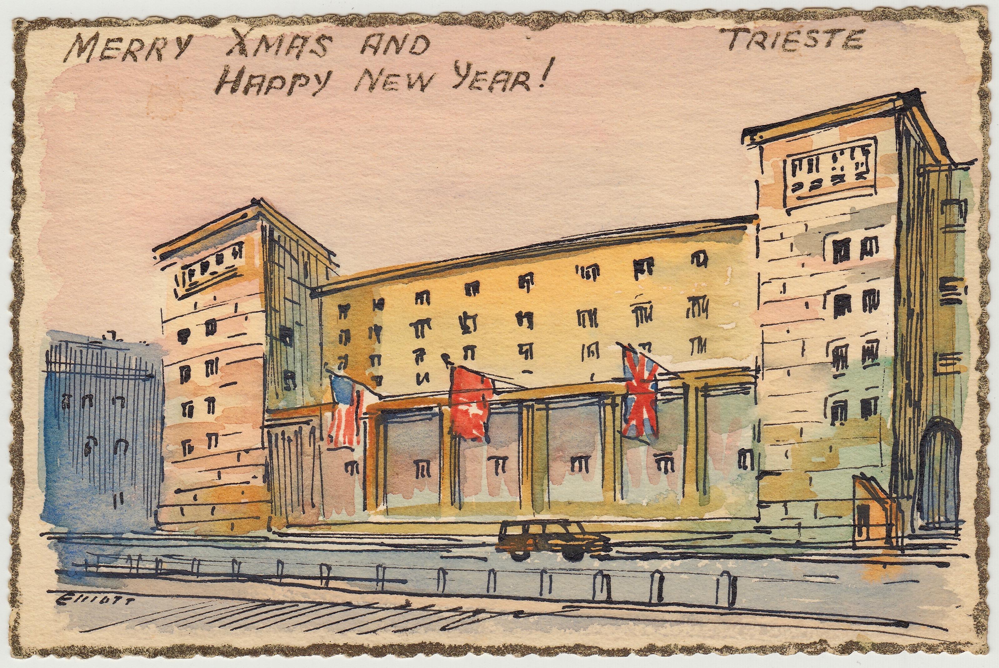 Postcard by Artist, Konstantin Elliott 1950-51