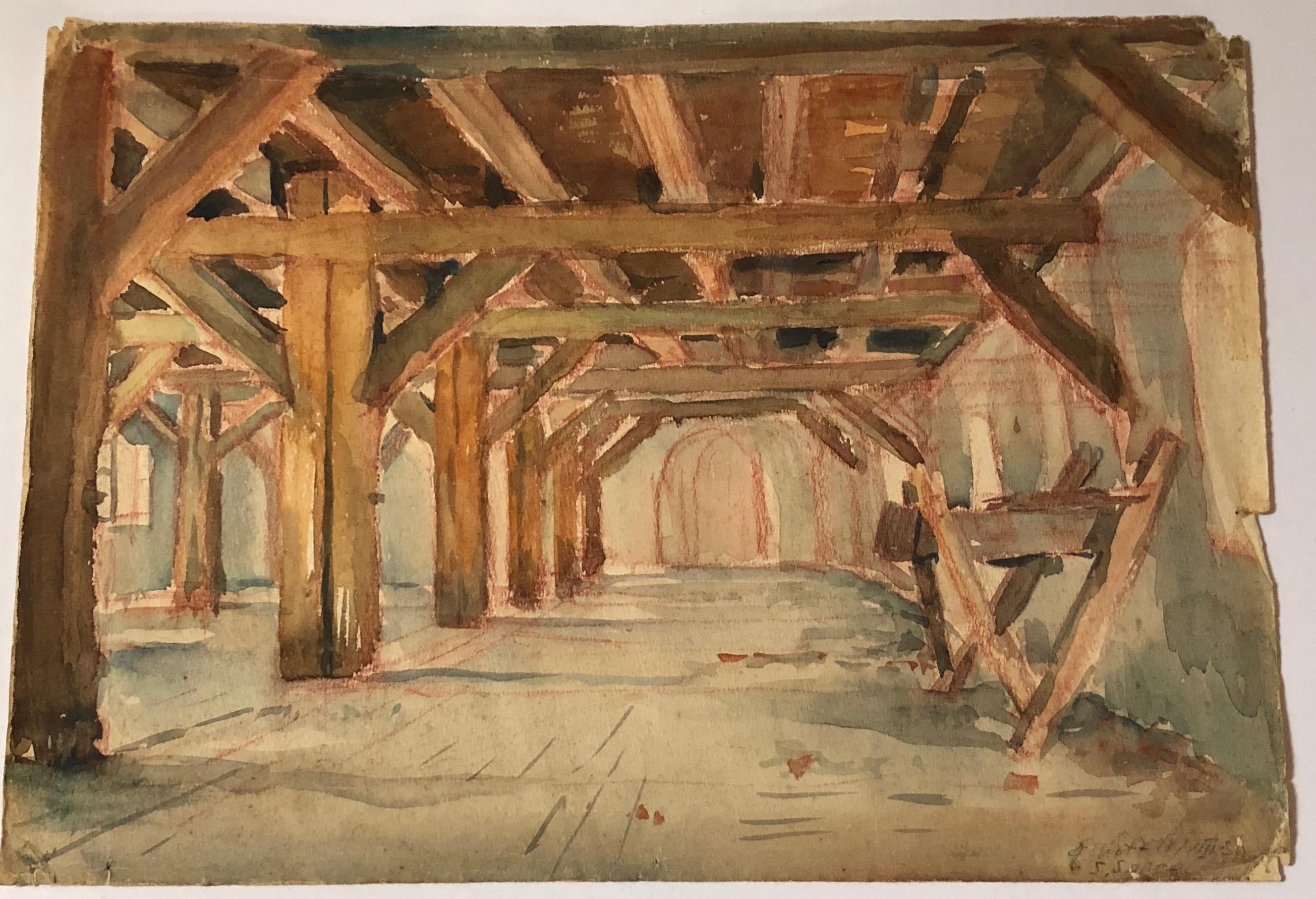 San Sabba DP Camp, Painting by Konstantin Elliott