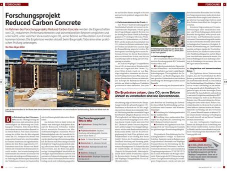 Forschungsprojekt Reduced Carbon Concrete
