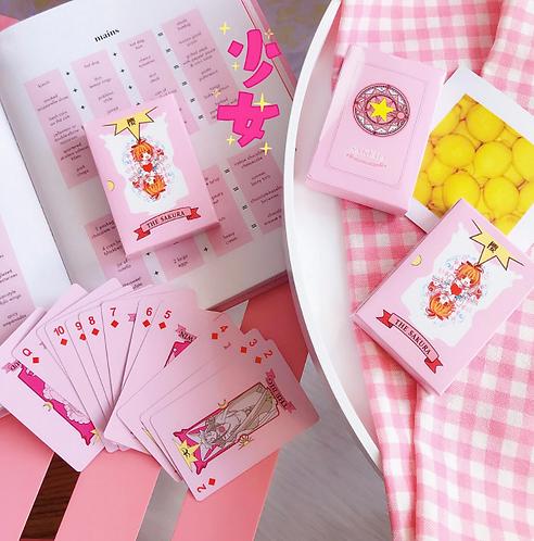 Bộ bài poker 52 lá Sakura anime