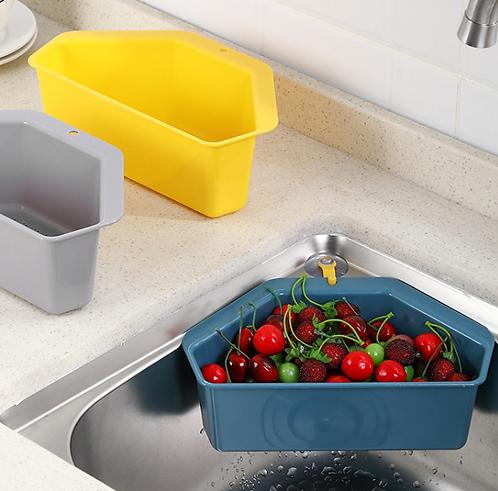 Rổ nhựa lọc nước treo bồn rửa chén